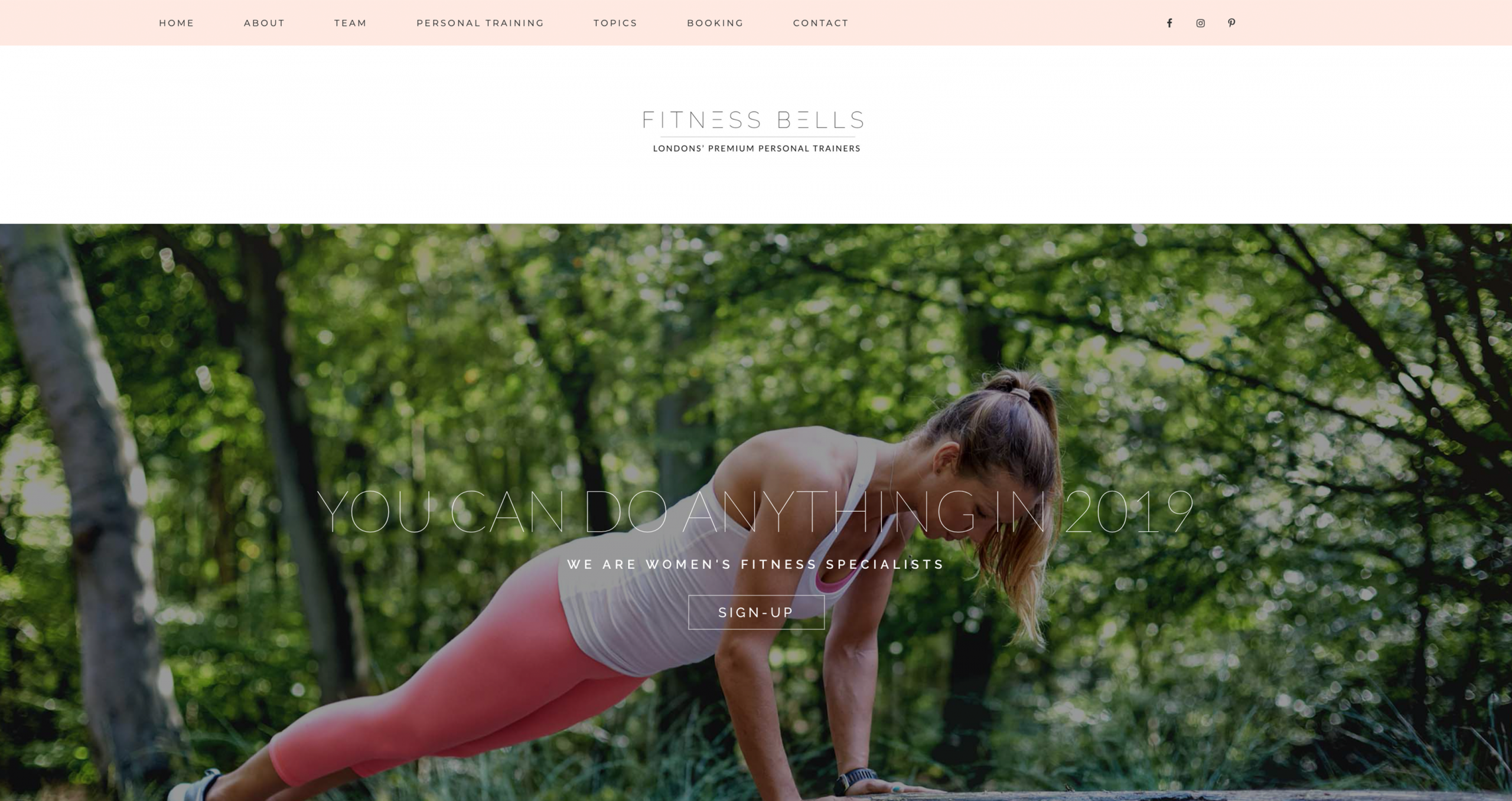 WordPress Website For Personal Trainer in London